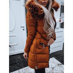 Hnědý kabátek se zipy