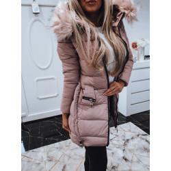 Růžový kabátek se zipy