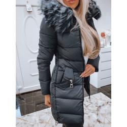 Tmavě modrý kabátek se zipy