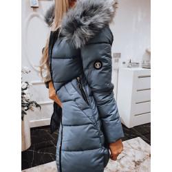Modrý kabátek s logem