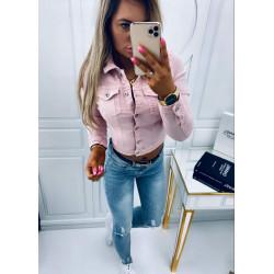 Růžová džínová bundička