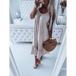 Béžové maxi šaty
