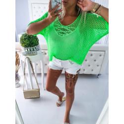 Neon zelený svetřík