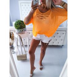 Neon oranžový svetřík