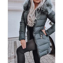 Smaragdový kabátek se zipy