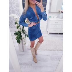 Tmavě modré džínové košilové šaty 1e07470b6d