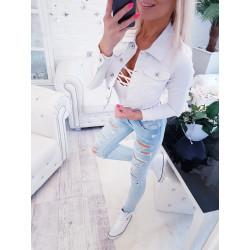 Bílá džínová bundička 25e5046bd1