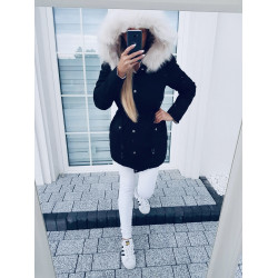 Oboustranný černobéžový kabátek