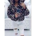 Leopardí zimní bundička/bomber