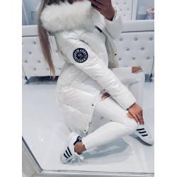 Bílý perleťový kabátek