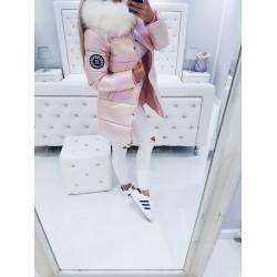 Růžový perleťový kabátek