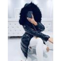 Černý lesklý kabátek fashion