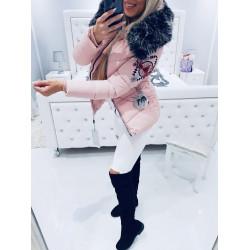 Růžová krátká bunda SIBIR