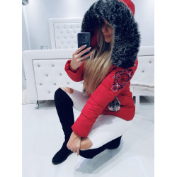 Červená krátká bunda SIBIR