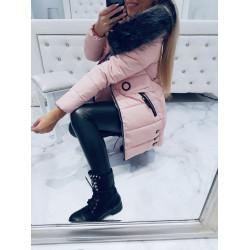 Růžový kabátek Circle