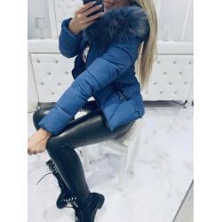 Jeans prošívaná bundička s přívěsky