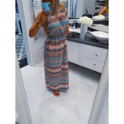 Dlouhé šaty Extreme peach