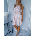 Krátké šaty peach strips