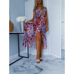 Dlouhé šaty violet flower