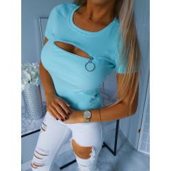 Modré triko se zipem