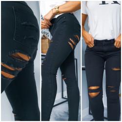 Černé ripped džíny
