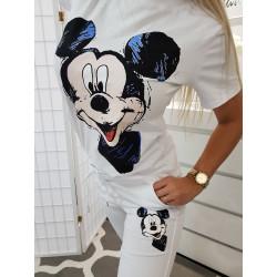 Bílé tričko Mickey