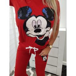 Červené tepláky Mickey