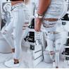 Šedé ripped džíny