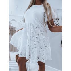 Bílé vzdušné šaty Rozalia