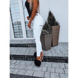 Bílé trhané džíny
