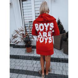 Červený kardigan Boys are toys